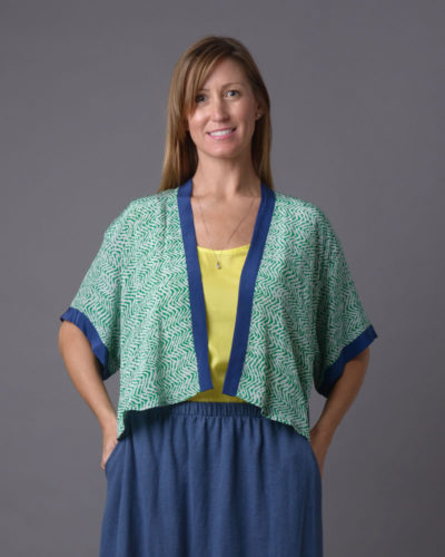 The Shayna - Silk Cape Top